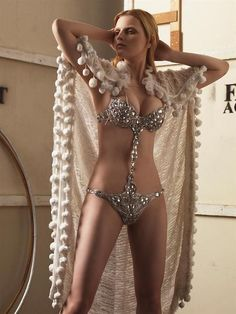 Burlesque Costume Bejeweled