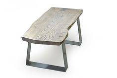 grey live edge coffee table as seen in ELLE Decoration