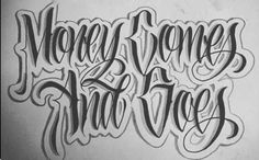 Chicano Tattoos Lettering, Tattoo Lettering Styles, Chicano Drawings, Graffiti Lettering Fonts, Graffiti Alphabet, Tattoo Fonts, Lettering Design, Tattoo Design Drawings, Tattoo Designs