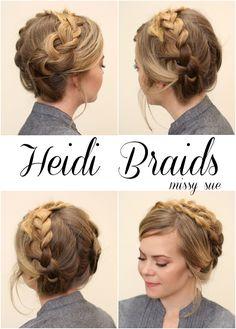 Easy Heidi Braids