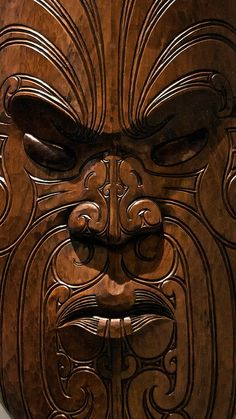 """Maori Mask in Te Papa Museum, New Zealand. The Museum of New Zealand Te Papa Tongarewa is the national museum and art gallery of New Zealand, located in Wellington. It is branded and commonly known as Te Papa and Our Place; """"Te Papa Tongarewa"""" is broadly translatable as """"the place of treasures of this land""""."""
