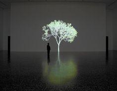 Mike Kelley by Jennifer Steinkamp, 2007–08, video installation, at the MFAH. @designerwallace