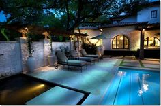 I'll take a backyard with a pool please.