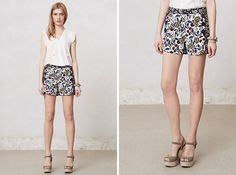 Buttoned & Blossomed Sailor Shorts | 20 Chic Shorts