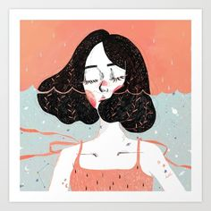 Buy Drowning in Thoughts Art Print by Kathrin Honesta.