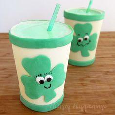 Smiling Shamrock Shakes for St. Patrick's Day