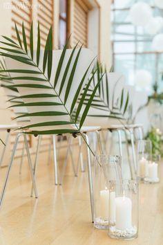 Tropical Wedding Decor, Palm Tree Chair Covers, Art-Deco Wedding Ideas www.elegantwedding.ca