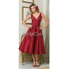 tea length bridesmaid dresses. Only if they were blue. Maid of honor I'm different color?