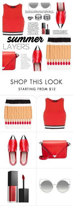 """""""Summer Layers"""" by tasnime-ben ❤ liked on Polyvore featuring Moschino, New Look, Alexander Wang, Smashbox, Marc Jacobs and LULUS"""