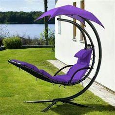 Dream Chair In Purple Patio, Backyard, Purple Furniture, Garden Furniture, Outdoor Furniture, Purple Home, All Things Purple, Purple Stuff, Purple Reign