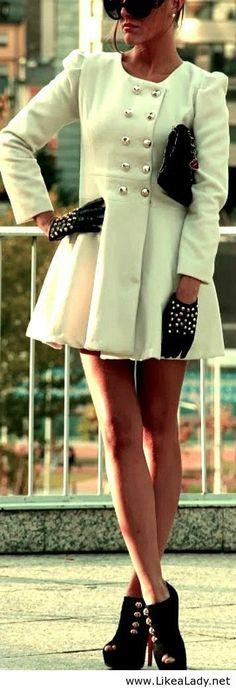 winter fashion Vêtements Classiques, Manteau Femme, Vetement Hiver, Lunettes,  Mode Chic, 393e88da75fe
