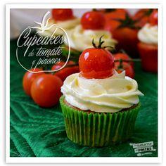 Cupcakes De Tomate Caramelizado Y PiñOnes / Pine Nuts And Caramelized Tomato Cupcakes