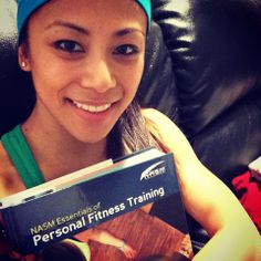 Work hard, train hard, study hard. This train never stops! The better informed I am, the more accurate info I can share with YOU. My lovely followers, this one's for you. #health #fitness #nasm #gym #workout