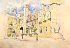 Wells, Somerset - pen and wash