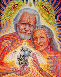 Psychedelic - Alex Grey (American, born 1953) Title: The Shulgrins and their Alchemical Angels, 2011 Medium: Prints and multiples, Archival pigment print