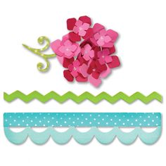 Sizzix - Sweet Treats Collection - Bigz Die - Borders and Hydrangeas at Scrapbook.com