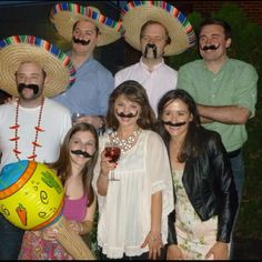 Mustache party ideas for Mexican theme nights