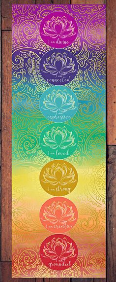 I am creative. Chakra Painting, Chakra Art, Lotus Design, All Design, Seven Chakras, More Wallpaper, Things To Come, Wall Decor, Art Prints