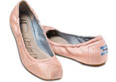 NEW TOMS Women's Petal Pink Grosgrain Ballet Flats Size 6.5, 8 & 8.5 Shoes #Toms #BallerinaFlats