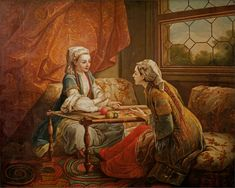 The Athenaeum - Sultan's Wife Embroidering (Carle van Loo - )