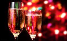 Jaarwisseling met champagne