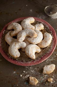 greek shortbread biscuits and a luscious cook book give away Greek Sweets, Greek Desserts, Greek Recipes, Greek Meals, Greek Cookies, Almond Meal Cookies, Croissants, Cyprus Food, Greek Pastries
