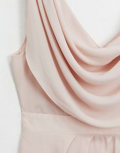 Buy ASOS DESIGN Bridesmaid cowl front maxi dress with button back detail at ASOS. Get the latest trends with ASOS now. High Low Bridesmaid Dresses, Bridesmaids, Tfnc, Back Details, Bow Back, Neck Wrap, Cowl Neck, Blush, Feminine