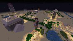 Orphea2012 Youtube et Minecraft: Minecraft Vue d'en haut de la map Ramsès II, la…