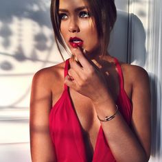 "Kristina Bazan on Instagram: ""Juste un peu de rouge... By @cibellelevi"""