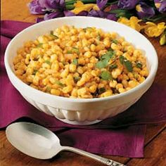 Southwestern Hominy Recipe -   Ingredients  1/2 cup chopped onion  1/2 cup chopped green pepper  3 tablespoons butter  2 cans (15-1/2 ounces each) golden hominy, rinsed and drained  2 to 3 teaspoons chili powder  1/2 teaspoon paprika  1/2 teaspoon salt  1/8 teaspoon pepper