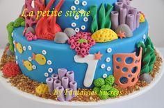 Fantaisies Sucrées: Gâteau anniversaire 3D Disney: La petite sirène (birthday cake)