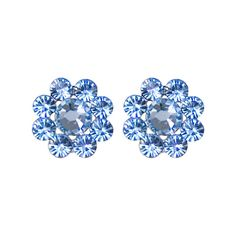 TARINA TARANTINO Crystal Flower Earrings ($38) ❤ liked on Polyvore