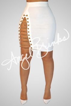 Cha Ching Chains Shop Boutique on Angel Brinks All White Outfit, White Outfits, Sexy Outfits, Sexy Dresses, Fashion Dresses, Dope Fashion, Womens Fashion, All White Party, Skirt Outfits