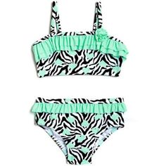 5617a9b0e7 Free Shipping on orders over $35. Buy Op Toddler Girl Heart Skinz Zebra Print  Bikini