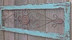 Wrought Iron / Ornate Wrought Iron Decor / Wall by Theshabbyshak Decor, Iron Wall, Wrought Iron Wall Decor, Wall Decor Bedroom, Wood Gate, Wrought Iron Decor, Iron Doors, Outdoor Wall Art, Metal Wall Decor Bedroom