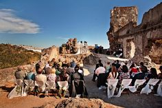 Spanish Wedding Ceremony on the ruins of a castle in Andalucia, by caprichia.com Weddings & Occasions. Photography by Anna Gazda