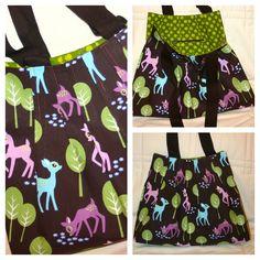 The 'oh deer' bag  (fabric is Michael Miller)