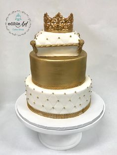 Birthday Cake For Him, Baby Shower Cakes, Prince, Desserts, Gold, Fiestas, Tailgate Desserts, Deserts, Dessert