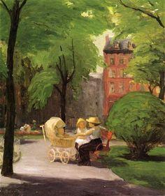 Spring, Grammercy Park (1917) - Sloan John French