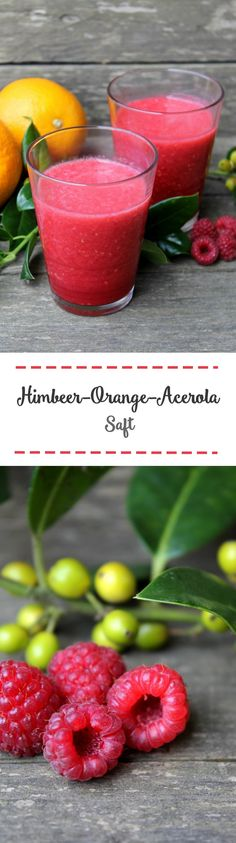 Himbeer-Orange-Acerola-Saft
