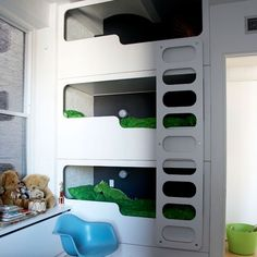 3 Bunk. Sleek, modern & IKEA inspired.