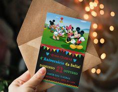 Convite Aniversário Turma do Mickey