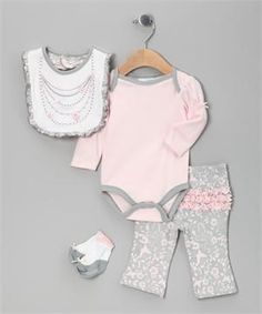 4-Piece Creeper Pant Set Necklace| Multi-Piece Sets|Vitamins Baby