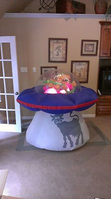 prototype gemmy halloween spaceship inflatable airblown