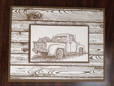 Stampin' Up!, Countryside, Hardwood, Sympathy, Masculine