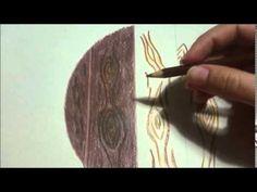 Textura de madeira com lápis de cor - Jardim Secreto e Floresta Encantada - YouTube