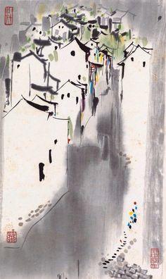 Wu Guanzhong (吴冠中; b1919, Yixing, China)
