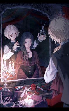 15 Ideas For Drawing Anime Couples Girls Dark Fantasy Art, Anime Fantasy, Fantasy Kunst, Fantasy Male, Final Fantasy, Art Anime Fille, Anime Art Girl, Gothic Anime Girl, Art Manga