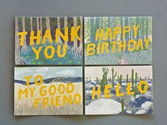 Ecosystems Multipurpose Card Set by @Yaya on Etsy, $22.00 #greetings #card #note #illustration #nature #typograpahy