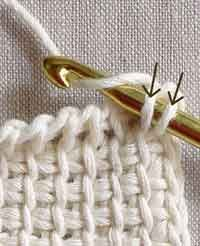 Looks like a really useful tutorial - Tunisian Crochet Basics - Crochet Tutorials - Knitting Crochet Sewing Embroidery Crafts Patterns and Ideas! Tunisian crochet tutorial by the Purl Bee Haven't read the whole thing but scanning it, it seems very useful. Crochet Motifs, Crochet Basics, Knit Or Crochet, Learn To Crochet, Crochet Crafts, Yarn Crafts, Sewing Crafts, Afghan Crochet, Crochet Hooks